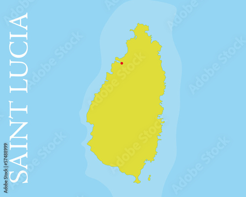 Saint Lucia island Vector Map