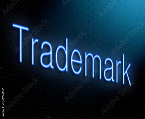 Trademark concept.