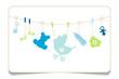 Gift Card Baby Symbols Boy