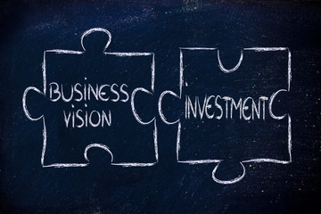 business vision and investments,jigsaw puzzle design