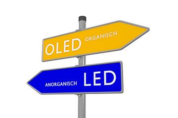 OLED Organisch /// LED Anorganisch