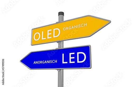 OLED Organisch /// LED Anorganisch - 57490516