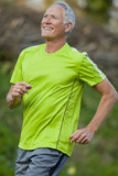 Smiling man jogging