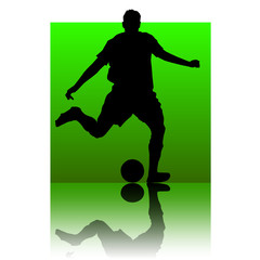 soccer player green square