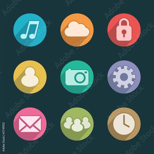 Iconos de aplicaciones para móvil