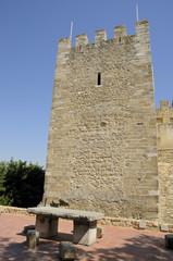 Medieval castle in Lisbon, Portugal
