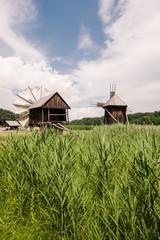 Windmills in a Village Museum