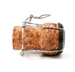 Wine cork isolated on white background