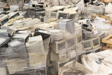 Old computer monitors for recycling