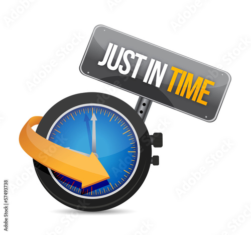 just in time concept illustration design