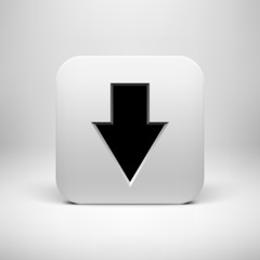 Technology White App Icon with Arrow