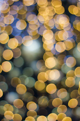 De focused gold abstract Christmas background