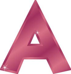 Buchstabe A mit Sternchen