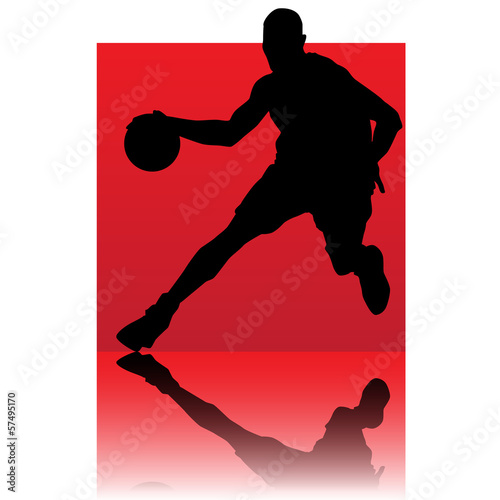 basket ball player red square