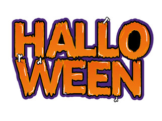 Halloween background letters logo