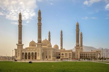 Al Saleh mosque in Sanaa, Yemen