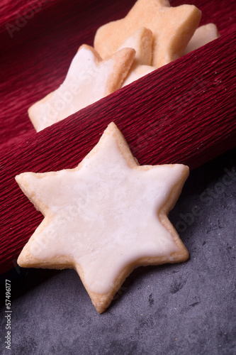 christmas lemon star shaped cookies