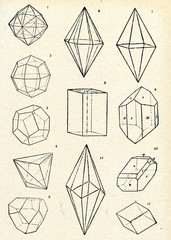 Geometrical shape of crystals