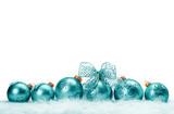 row of Christmas balls