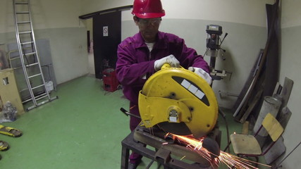 Cutting A Metal Pipe