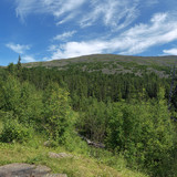 View from the camp Glade of Artists, Northern Ural Mountains