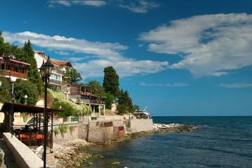 houses on the sea