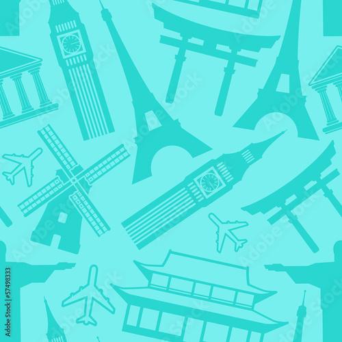 travel seamless pattern