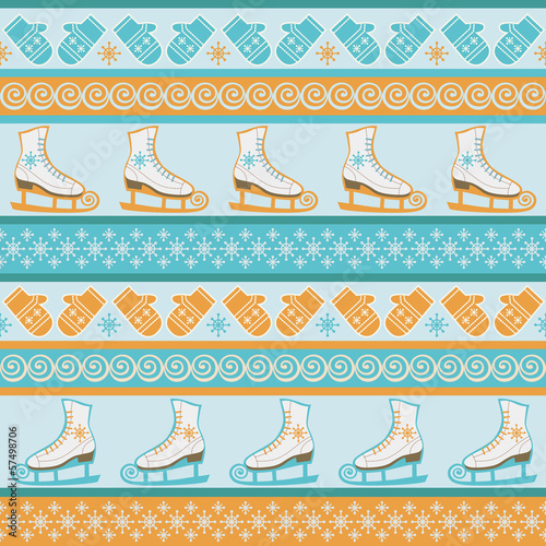 Seamless winter sport pattern