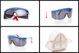 collection of personal safety glasses and mask