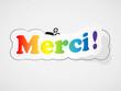 """Etiquette """"MERCI"""" (remerciements carte gratitude joie plaisir)"""