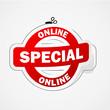 ONLINE SPECIAL marketing sticker (web internet offer)