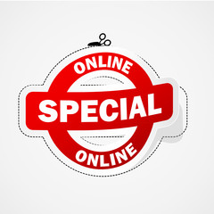 ONLINE SPECIAL marketing sticker (web internet offer)