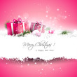 Pink Christmas greeting card
