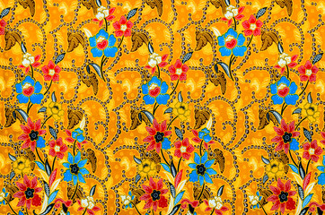 Colorful batik cloth fabric