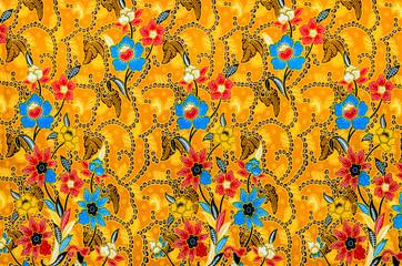 Colorful batik cloth fabric