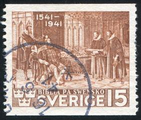 Reformers Presenting Bible to Gustavus Vasa