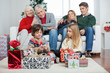 Three Generation Family With Christmas Presents