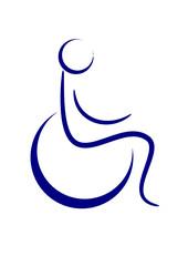Piktogramm eines behinderten Menschen