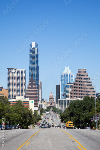 Staande foto Texas A View of the Skyline Austin at Texas, USA