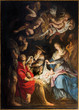 Antwerp - Paint of Nativity by P. P. Rubens in St. Pauls church