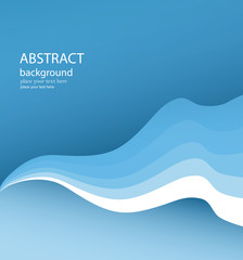 Wavy Blue Vector Background