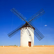 Windmill and blue sky. Alcazar St Juan, Castile La Mancha, Spain