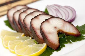 Smoked eel steaks