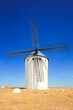 Windmill and blue sky. Alcazar St Juan, Castile La Mancha, S