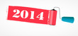 Paint roll 2014 new year background vector illustration