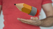 pencil hand 3d