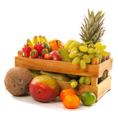 Crate fresh fruit