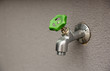 faucet with green valve