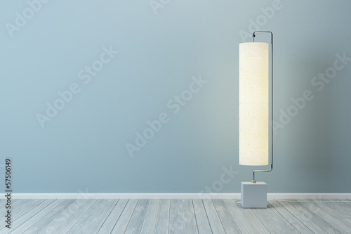 room with floor lamp