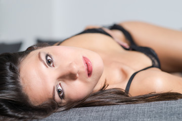 Beautiful appealing young woman